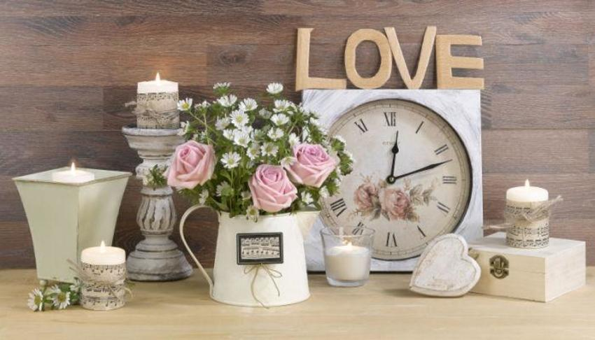 Poster Still Life Flowers Candle Love LMN40305