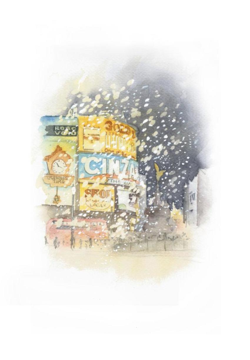 London Piccadily Snow Eros