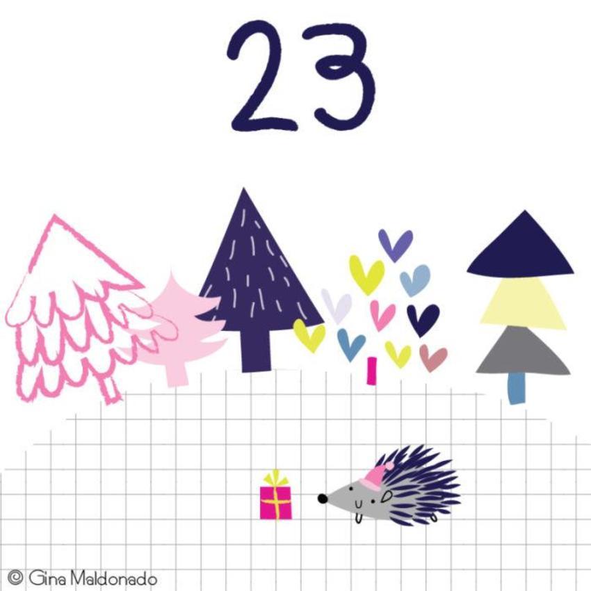 23 - Christmas Tree And Hedgehog - GM