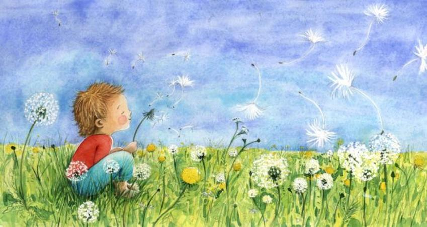 Corke Book Child Dandelions