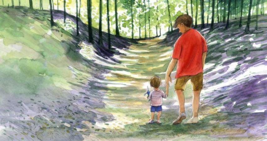 Corke Book Father And Child Woods