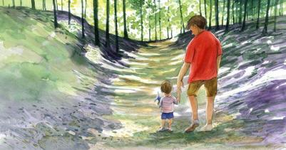 corke-book-father-and-child-woods