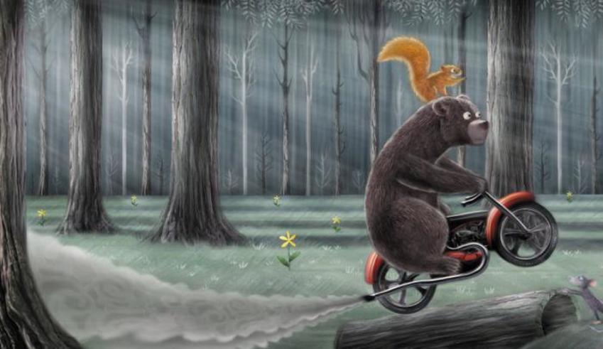 Squirrel And Bear Bike