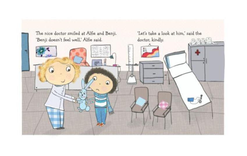 Kids Doctors Poorly Get Well Rabbit Juv Kids Ksaunders