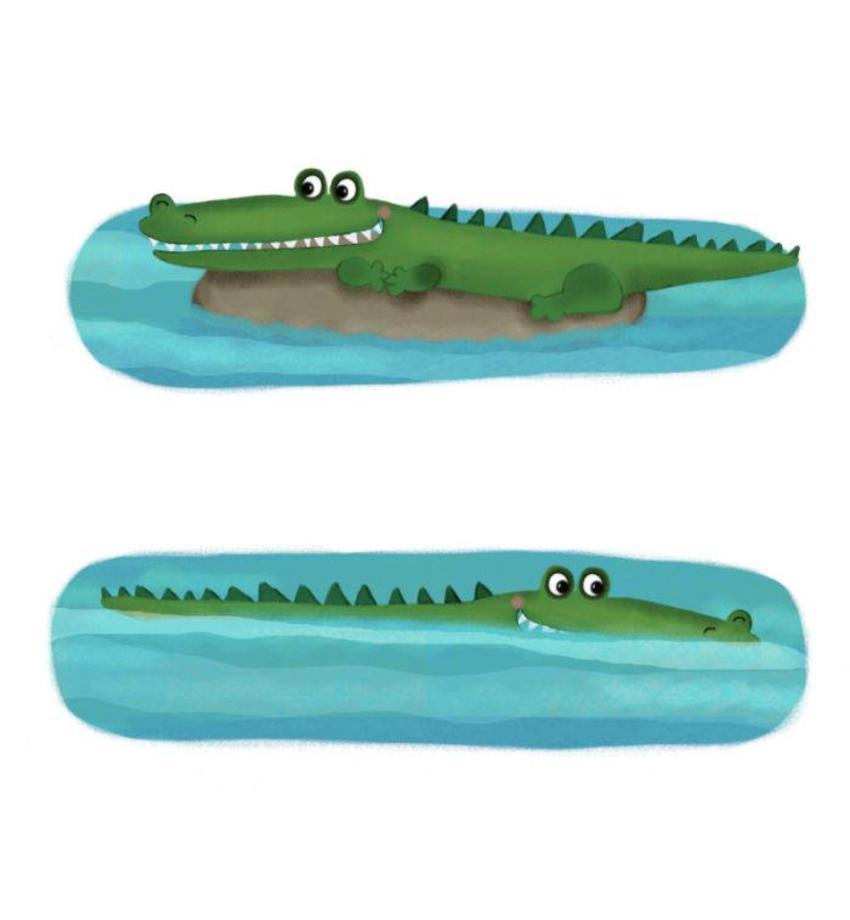 Crocadile Water Swim Jungle Cute Kids Juv Ksaunders