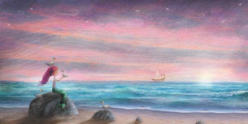 Mermaid And Seagulls