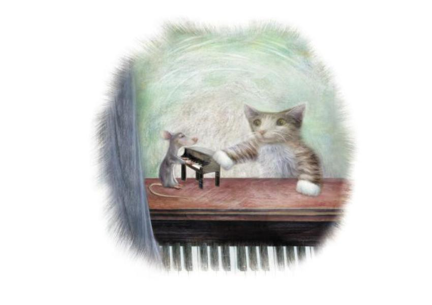 Mouse Cat And Piano