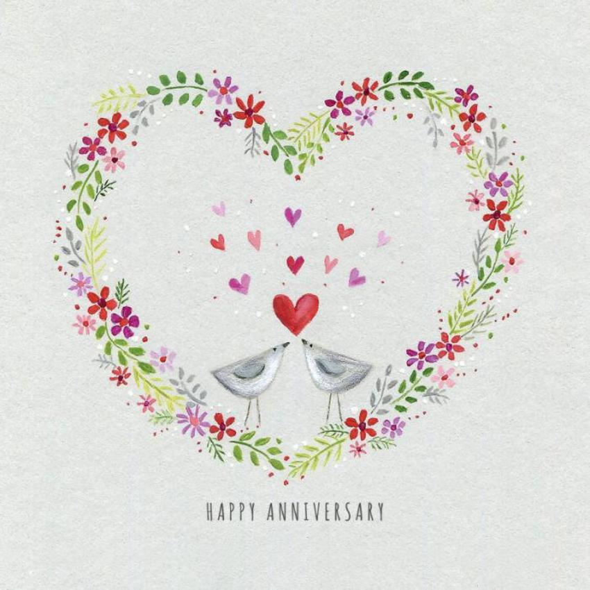 Ileana Oakley Heart Wreath Birds Anniversary