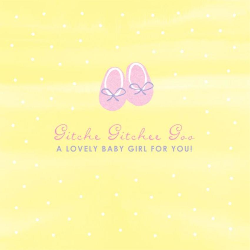 New Baby Girl Pastel Booties On Yellow