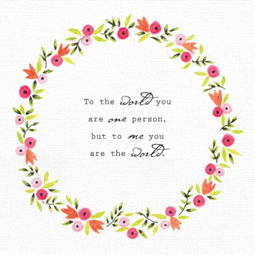 Love Valentines Day Anniversary Floral Wreath With Love Quote