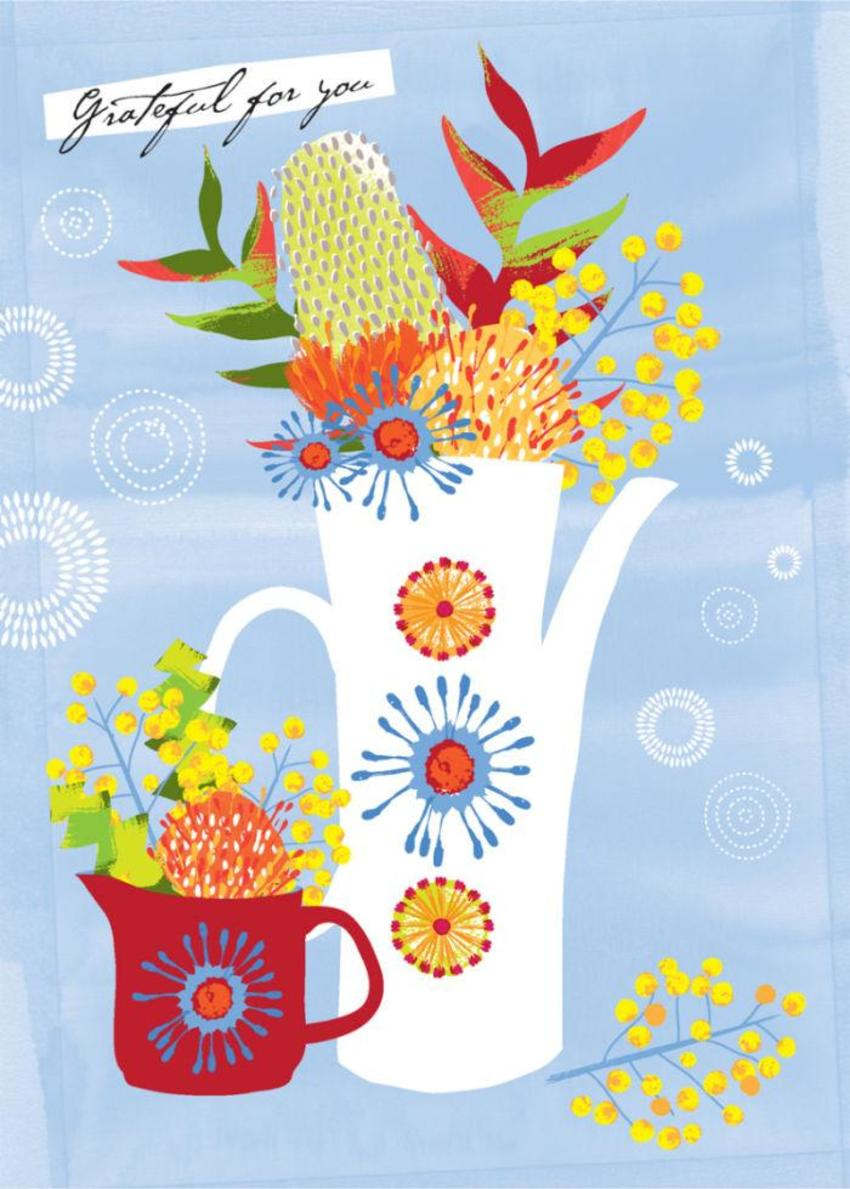 Thank You Mothers Day Get Well Thinking Of You Female Birthday Australian Flowers In Vase