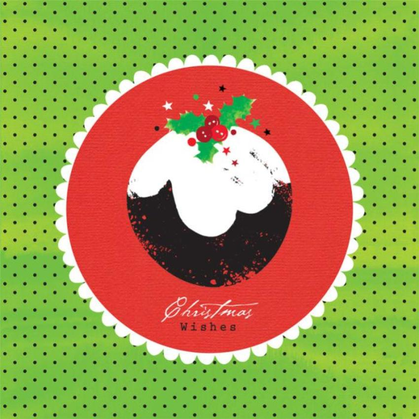 Christmas Pudding With Holly 1