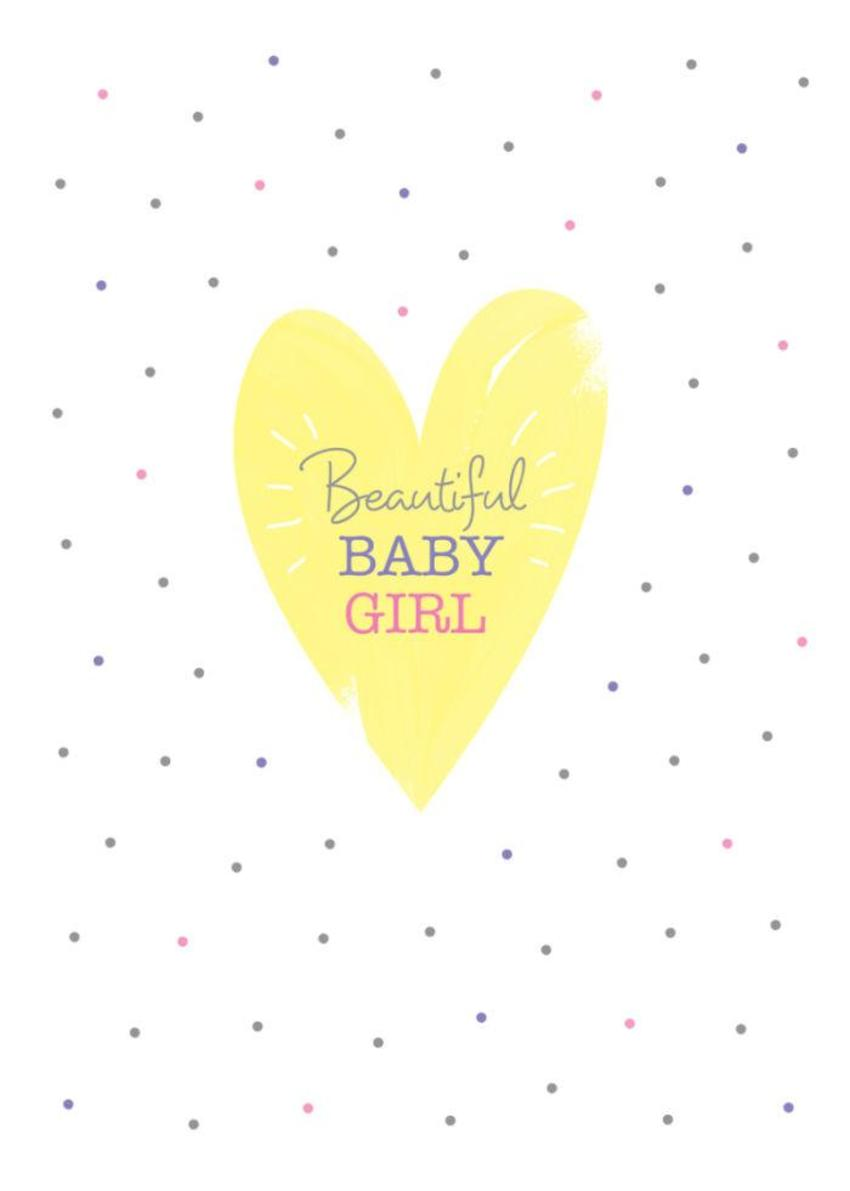 New Baby Girl Pastel Love Heart And Spots