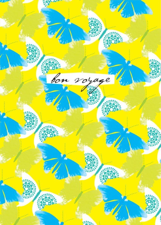 Bon Voyage Tropical Butterfly Butterflies Pattern Background