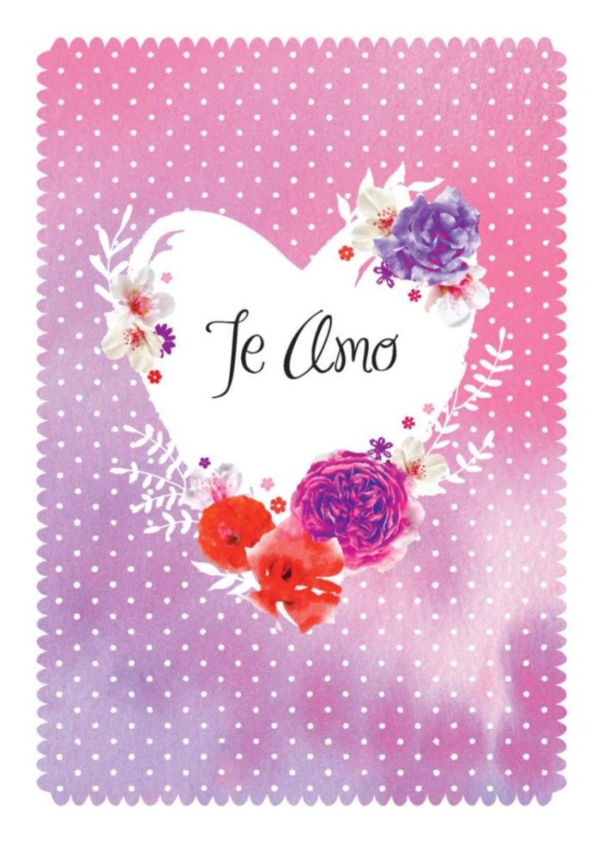 Love Anniversary Valentines Day Floral Flowers Te Amo Heart On Watercolour Background