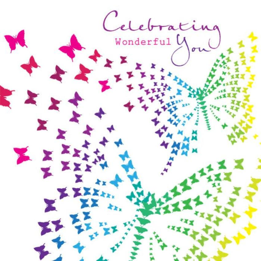 Female Birthday Leaving Good Luck Bon Voyage Bright Butterflies