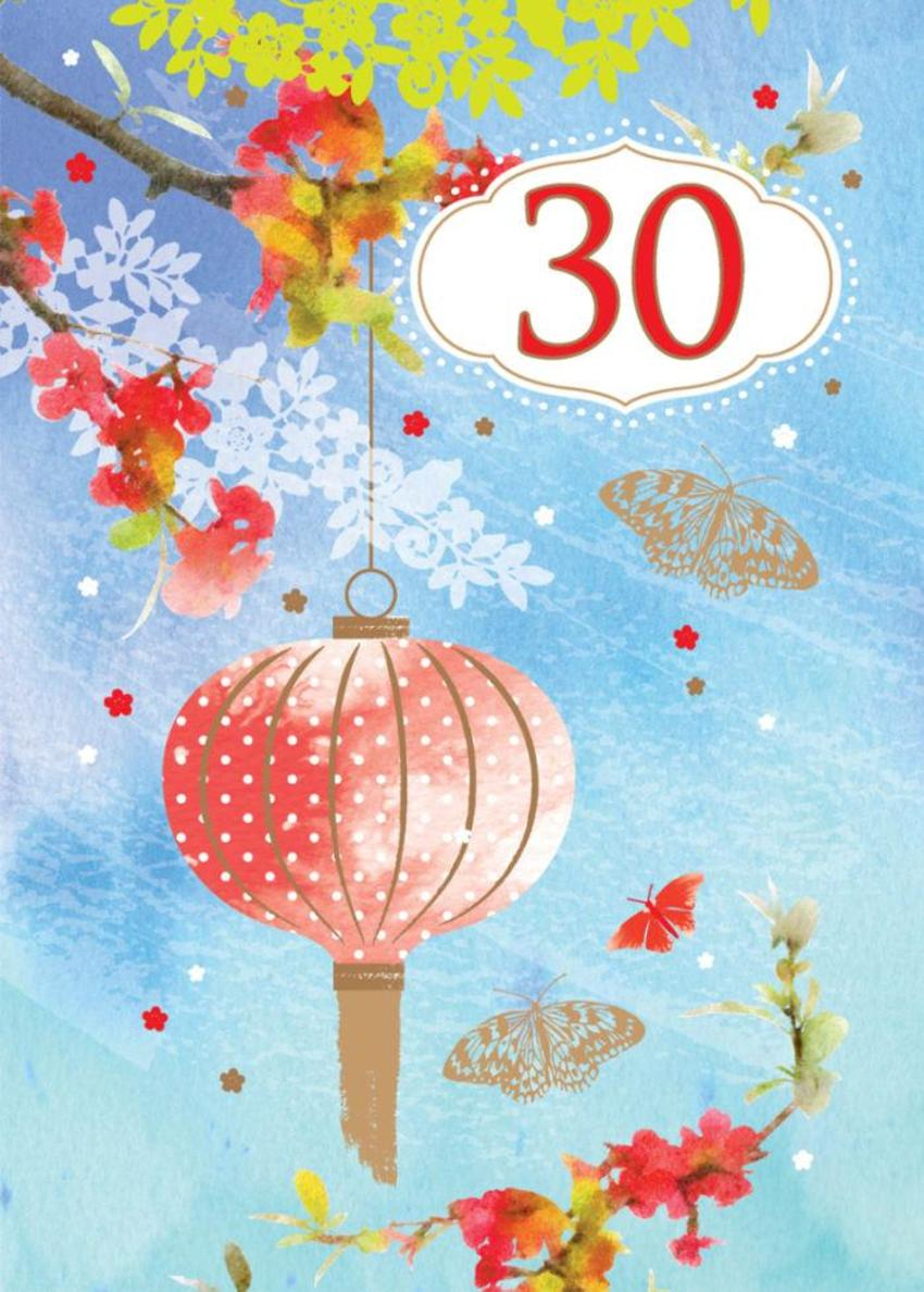 Female Birthday Mothers Day Chinese Lanterns With Flowers Floral