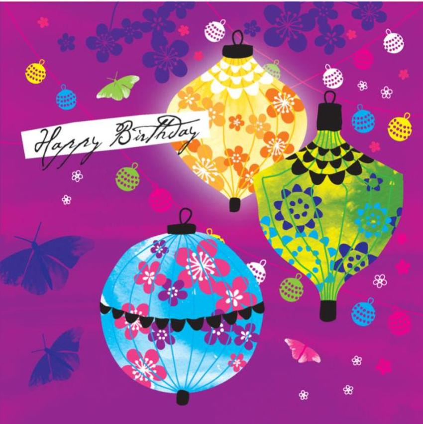 Female Birthday Mothers Day Lanterns Chinese With Cherry Blossoms 2