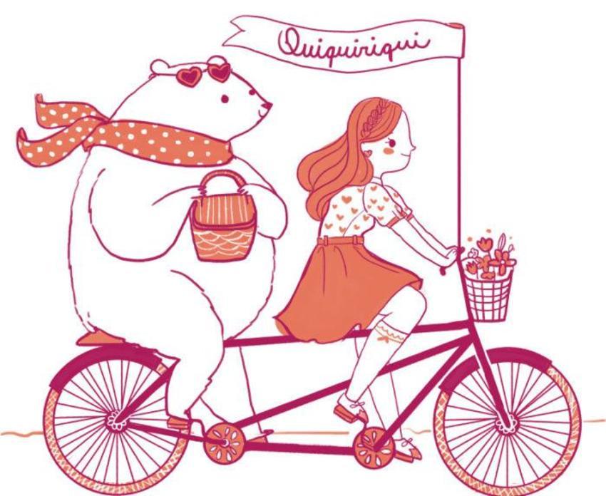 Print Girl And Bear Qqq