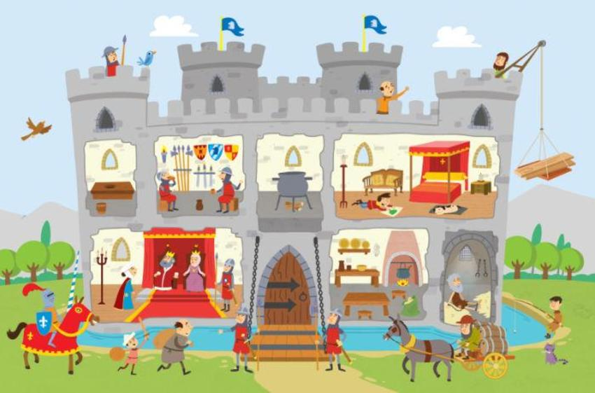 STICKER BOOK - CASTLES - KNIGHTS - ENGLISH