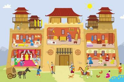 sticker-book-castles-knights-chinese