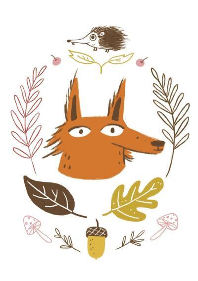 fox-hedgehog-autum