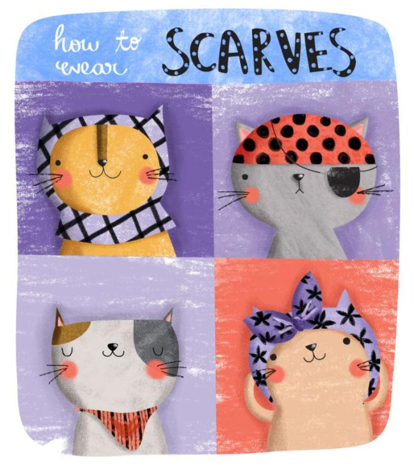 How To Wear Scarves Cats - GM