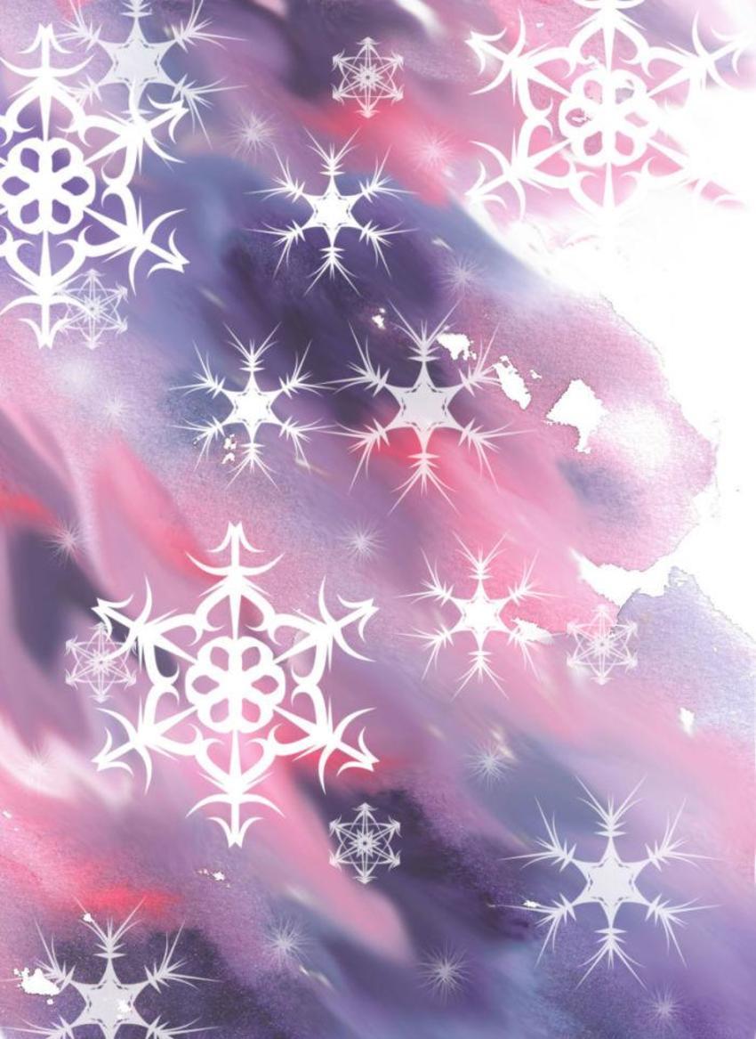 Pink Purple Snowflake