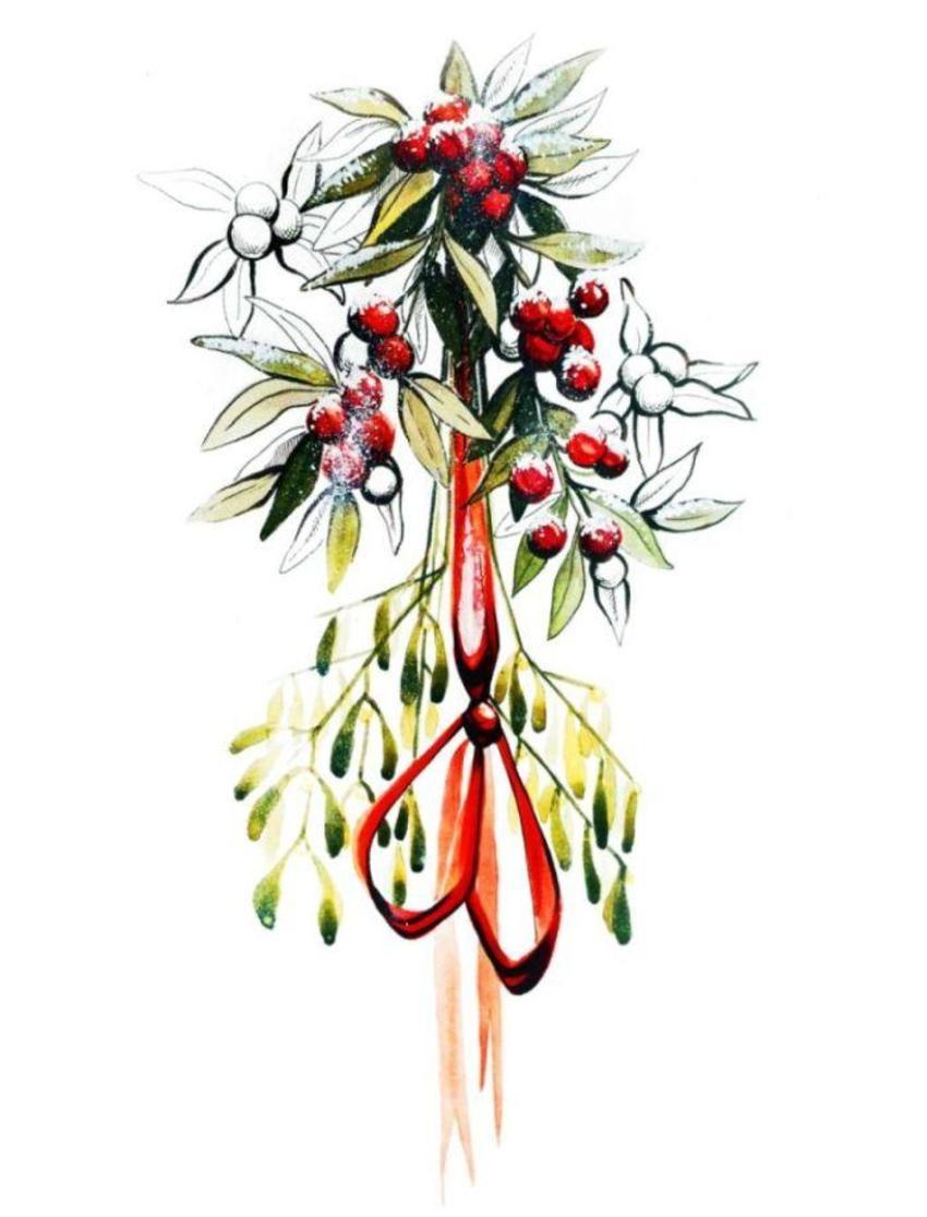 holly mistletoe ribbon snow copy.jpg