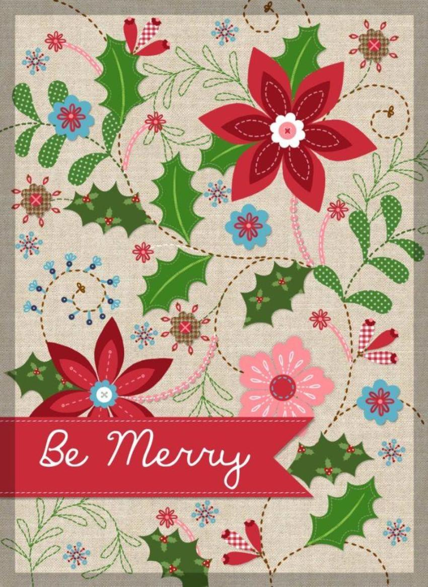 NT02 Linen Christmas Card  Copy5