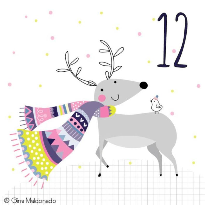 12 - Reindeer With Scarf - GM