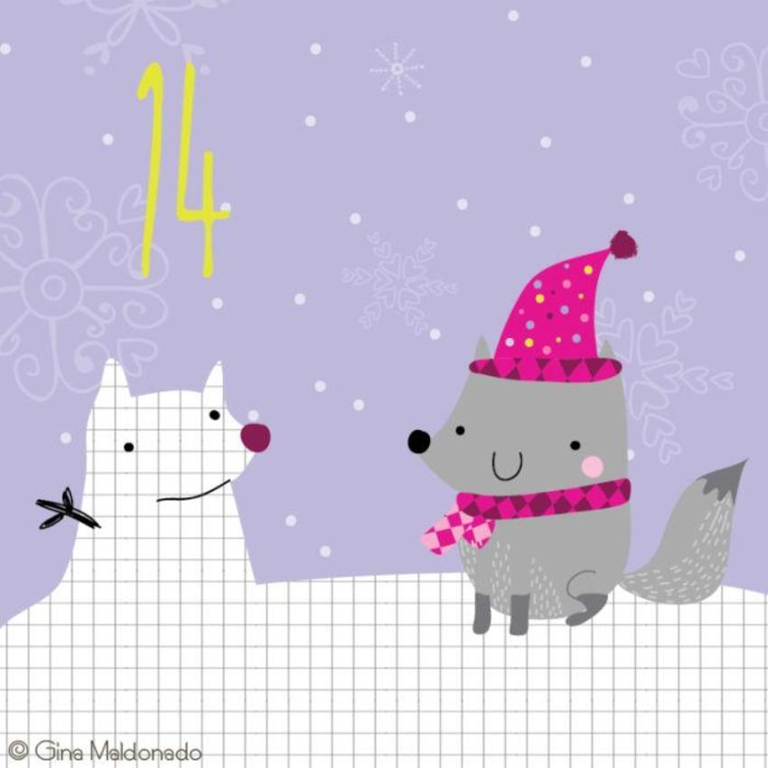 14 - Fox And Snow Fox - GM