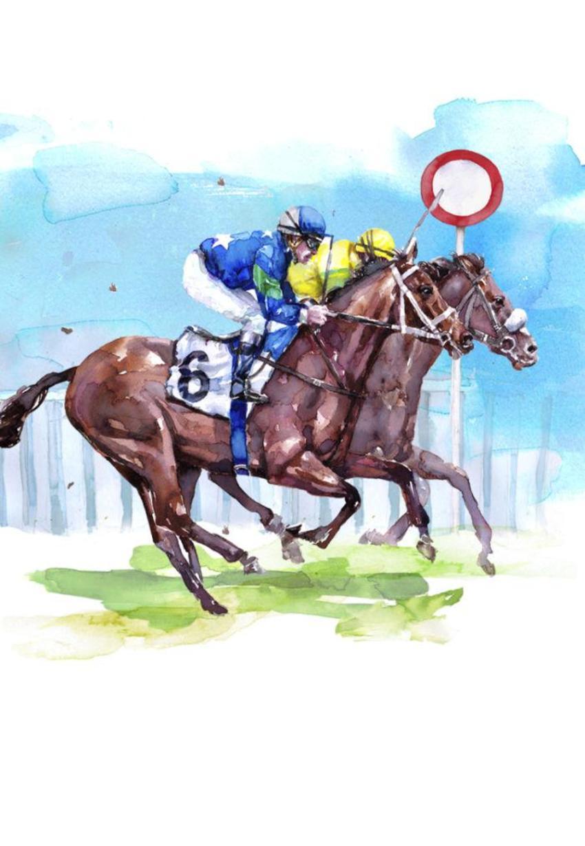 Horse Race Finishing Post Copy Copy