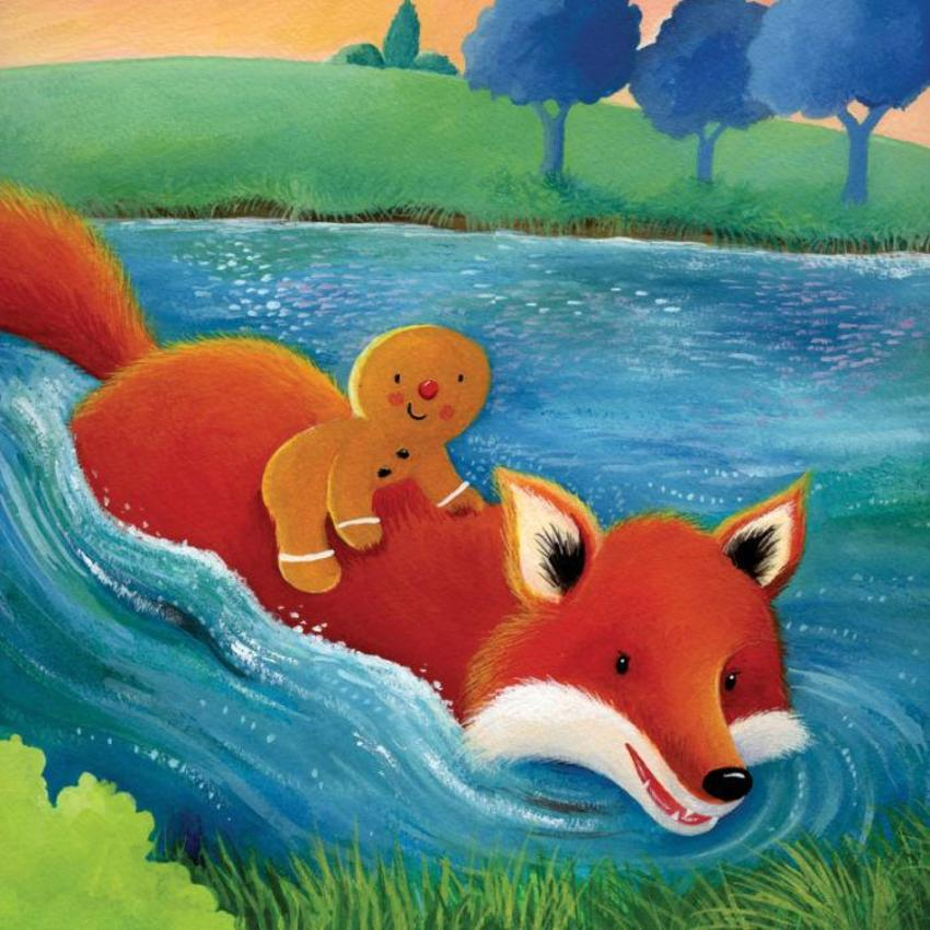 Gingerbread Man Riding On Fox