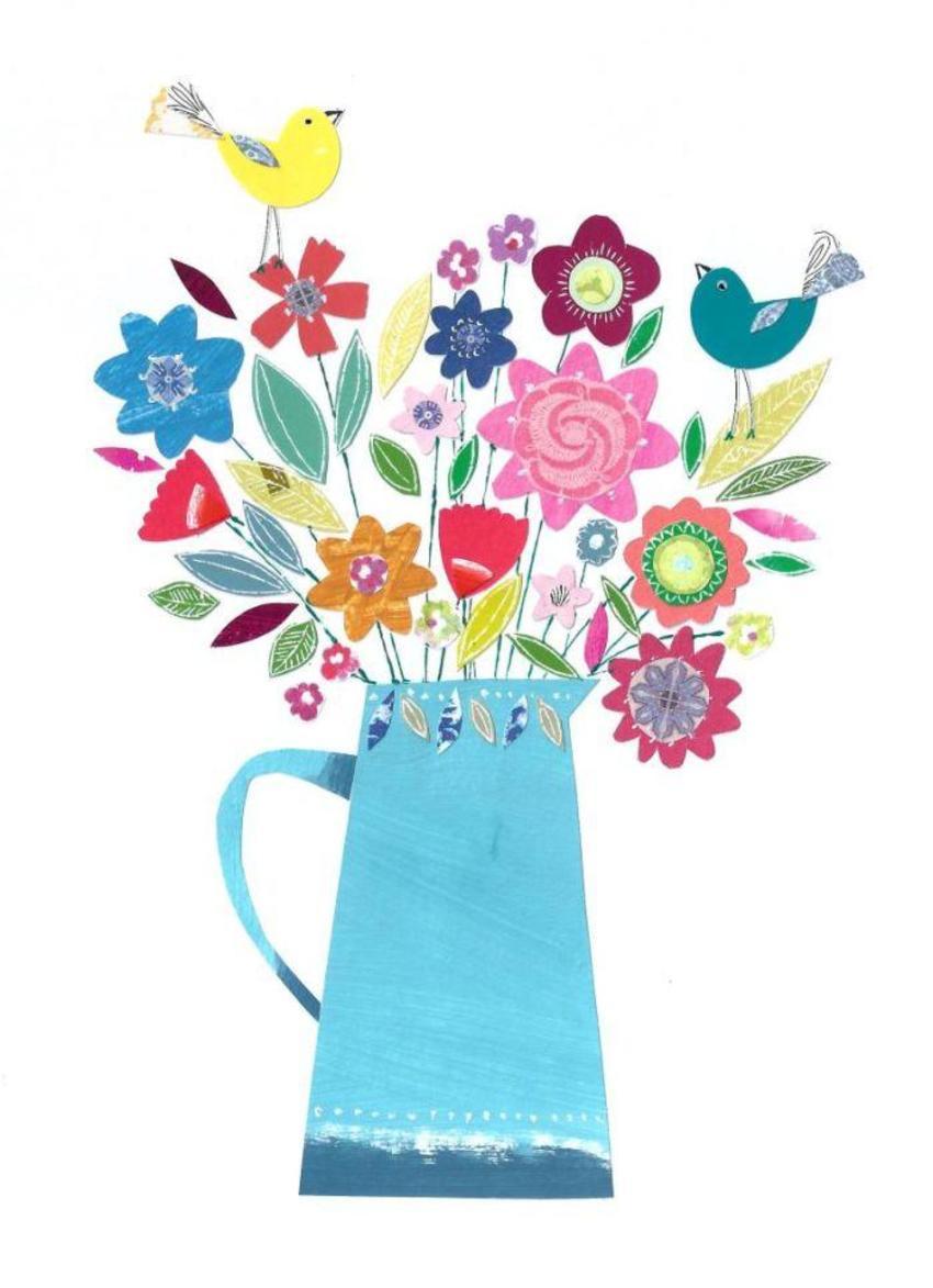 PT - NEW Flower Vase And Birds