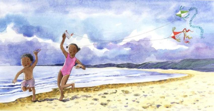 Corke Book Children Kite Beach
