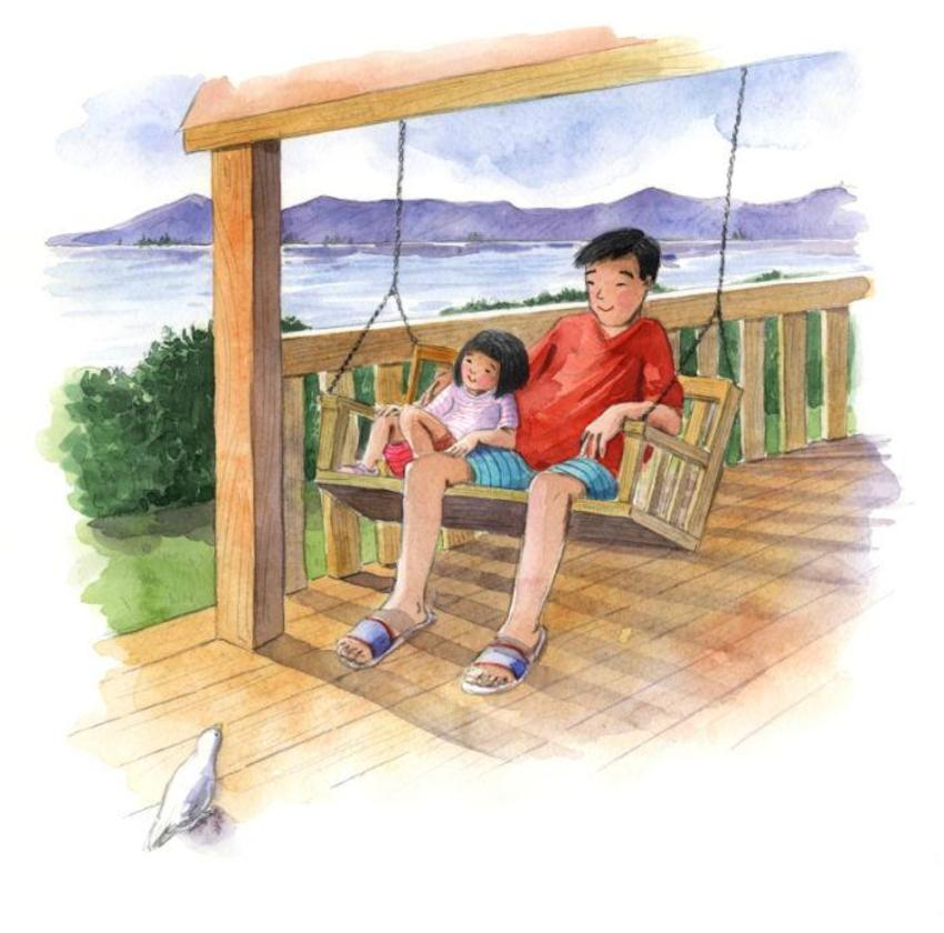 Corke Book Asian Father And Child Swing Seat