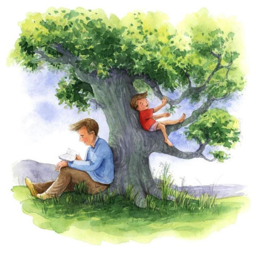 Corke Book Father And Child Tree