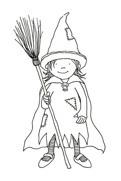 claire-keay-line-drawing-young-witch-with-broom-jpg
