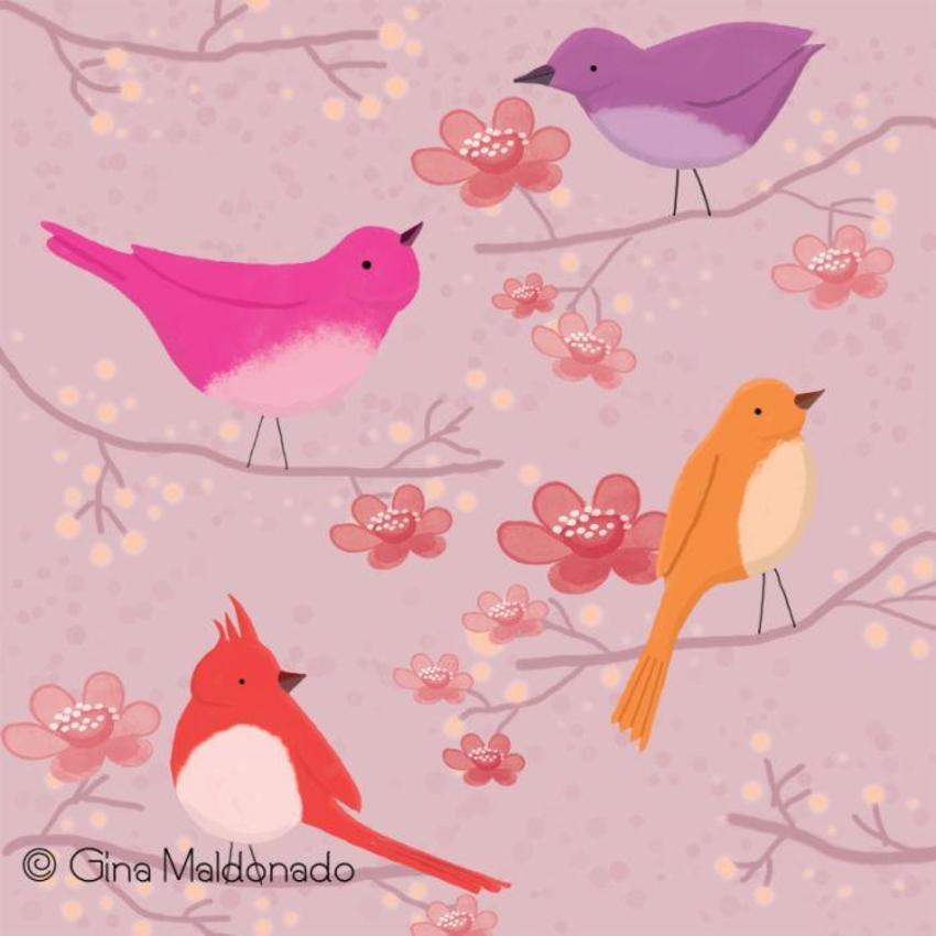 Spring Birds - GM