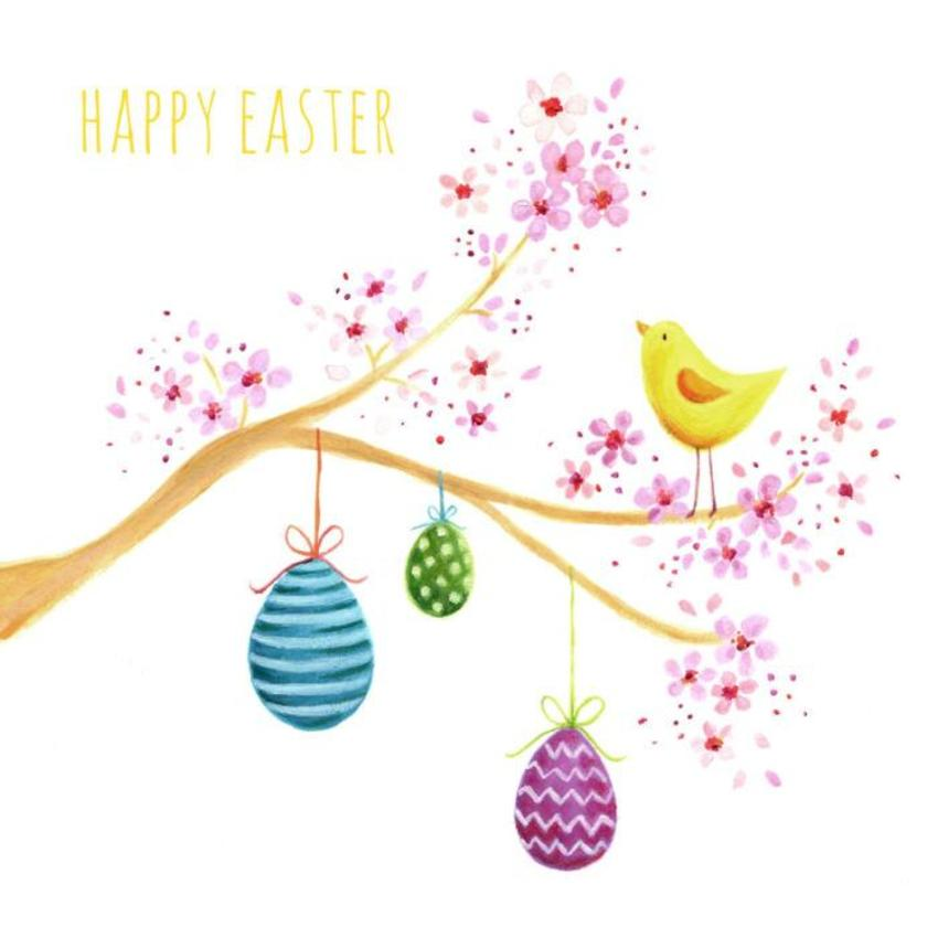 Easter Tree Eggs Chick