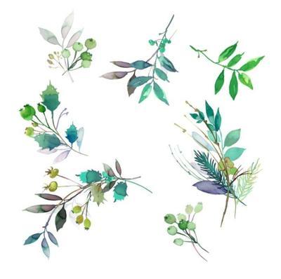 green-mono-xmas-sprigs