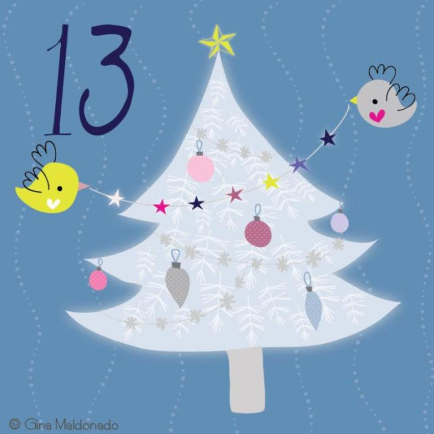 13 - Christmas Tree With Birds - GM