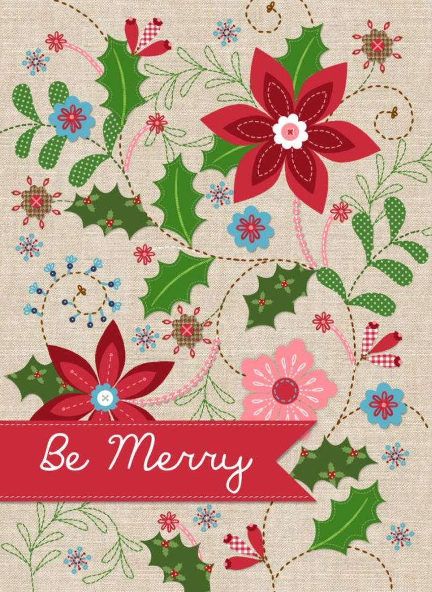 NT02 Linen Christmas Card 4