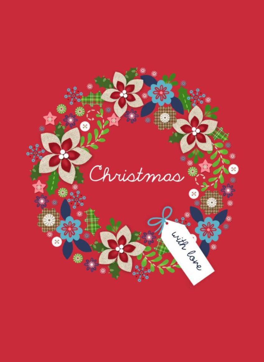NT02 Linen Christmas Card 3