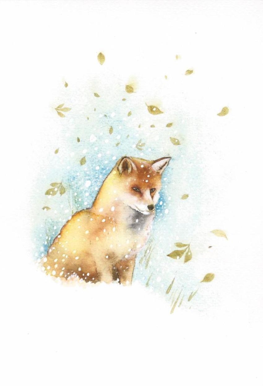 Fox Snow Leaves