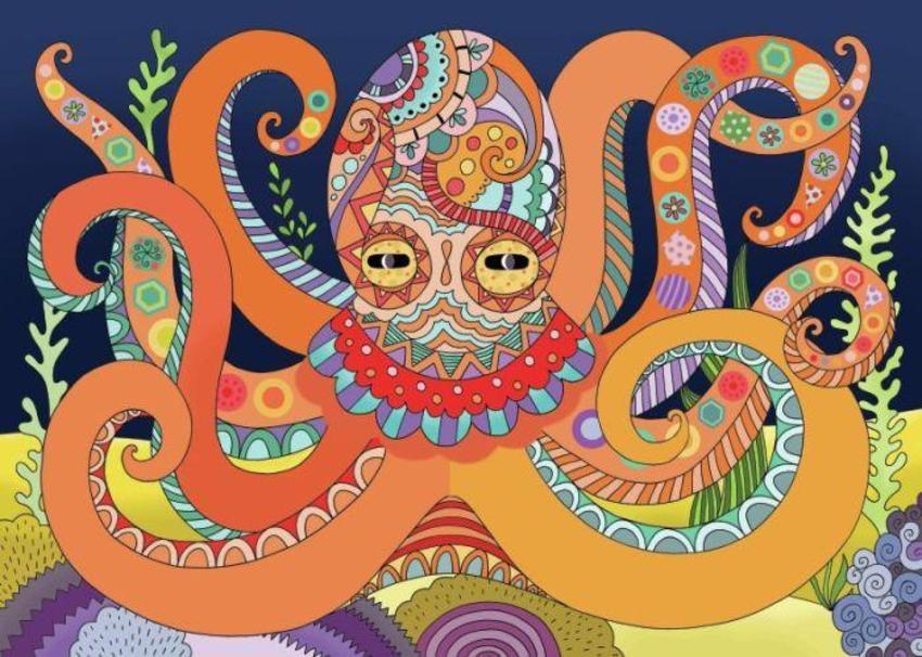 Octopus Sticker Page