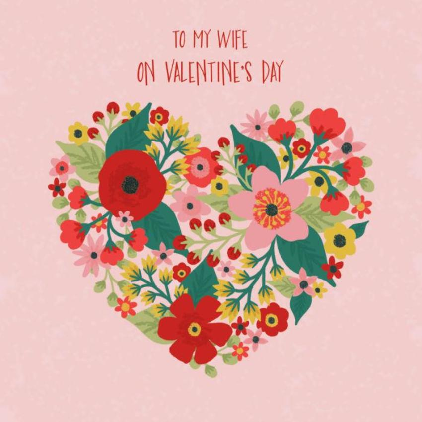 Valentine Flowers Heart