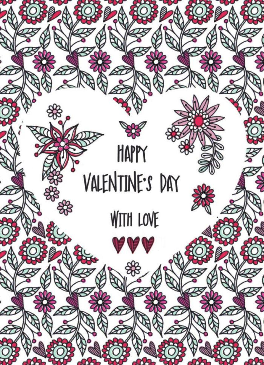 Valentine Repeat Daisies