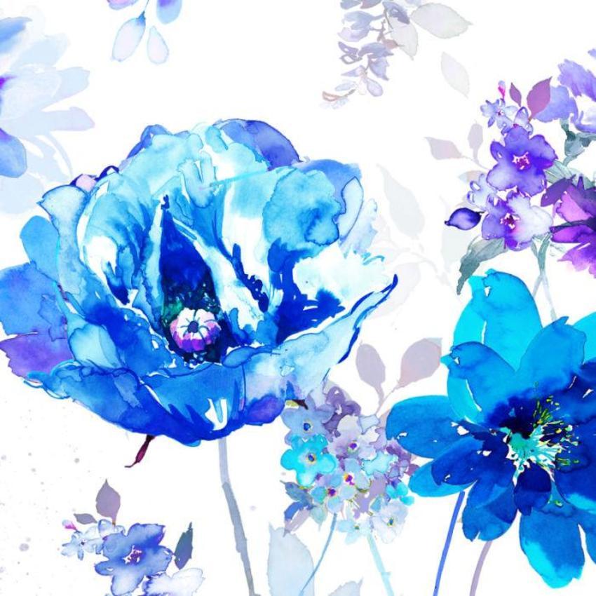 Blue Poppy Floral  Layered  Copy Copy